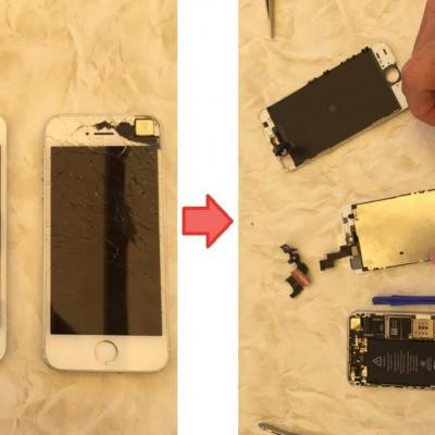 Remplacement vitre iphone 5S
