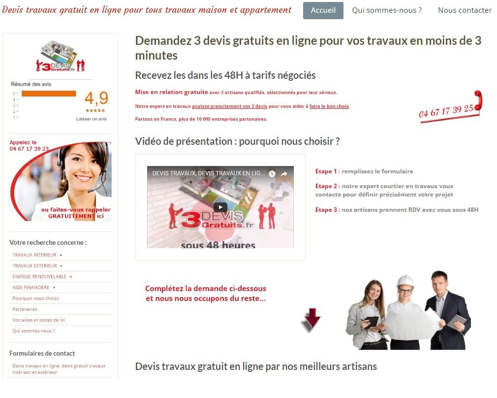 Creation site internet 3devisgratuits