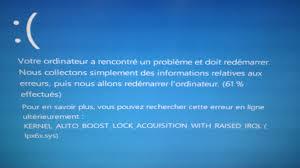 Panne ordinateur écran bleu