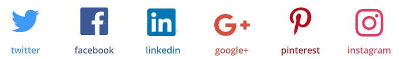 Icones reseaux sociaux site