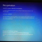 Panne informatique écran bleu