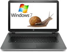 Pc portable lent win7